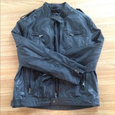 INC black faux jacket Good condition no flows INC International Concepts Jackets & Coats Utility Jackets