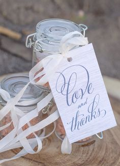 DIY wedding sea salt favors for beach themed wedding