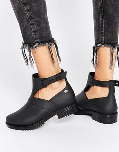 Image 1 of Mel by Melissa Open Ankle Boots Short Black Boots 483c739e4c167