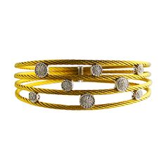 Charriol 18K Gold & Stainless Nautical Cable Bracelet. Contemporary. $1400