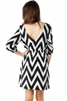 Forever Zig Zag Cinch Dress