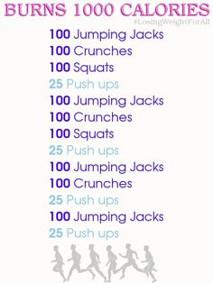 Let's do this!! Easy way to burn 1000 calories in a day!!