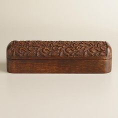 Hand Carved In India With An Intricate Design And A Rich Espresso Finish,  Our Exclusive Storage Box Is A Chic Home For Pencils, Pens And Other Office  ...