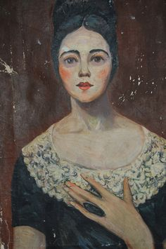 pottery crock with roses ~ Pratt Creek Art Farm frayed and fading Primitive oil Portrait of a woman The Woman In Black, Paintings Famous, Oil Paintings, Primitive Painting, Cute Pens, Oil Portrait, Colorful Roses, Naive Art, Woman Painting