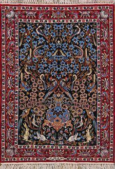 Esfahan Persian Rug, Buy Handmade Esfahan Persian Rug 2 4 x 3 4, Authentic Persian Rug $1,460.00