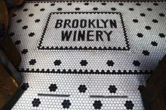 Brooklyn Winery tile entrance.