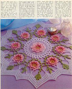 """""""Spring Always"""" crocheted flower mat"""