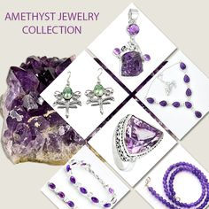 Amethyst handmade  Jewelry Collection in Sterling Silver from Jaipur, India.  https://www.jewelexi.com/gemstones/jewelry/amethyst From our home to yours' with love. #india #handmade #sterling #silver #ring #earrings #pendant #necklace #bracelet #natural #jaipur #india #wholesale #rajasthan  #artisan #healing #crystals #gemstone #Amethyst