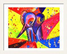 #ElephantPainting #PrintableArt #ElephantArt #NurseryArt #DigitalPrint #ColorfulAnimals by #JuliaApostolova Art Kids, Art Wall Kids, Wall Art, Elephant Nursery Art, Colorful Animals, Art Pop, Abstract Watercolor, Kids Decor, Artist At Work