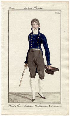 Journal des Dames et des Modes, 1801.   Hello handsome!    Attention all boys:  THIS LOOKS GOOD.  WEAR THIS.