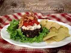 Raw All American Sun-dried Tomato and Pesto Nutburger