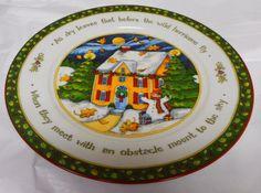 """A Christmas Story"" by Susan Winget Portmeirion Studio  Dinner Plates- Series 4 #PortmeirionStudio"