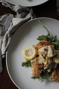 pan-fried #chicken with lemon-artichoke sauce