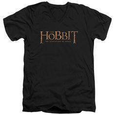 Hobbit/Logo Short Sleeve Adult T-Shirt V-Neck 30/1 in