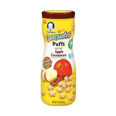 Gerber Graduates Puffs Apple Cinnamon Gerber Foods ($2.49) ❤ liked on Polyvore featuring food and baby stuff