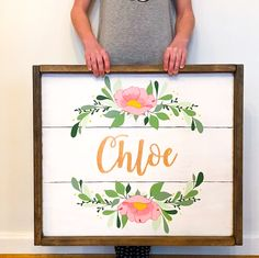 Name Sign For Nursery. Name Sign Kids. Nursery Decor. Name Sign Girl. Nursery Decor. Nursery Wall Art. Baby Name Sign. Wood Name Sign. by RedTruckCompany on Etsy https://www.etsy.com/listing/582431754/name-sign-for-nursery-name-sign-kids