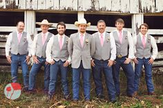 Country Groom and Groomsmen on Wedding Day    https://www.facebook.com/KenneyPhoto