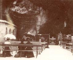 Vintage photo Lourdes France 1900 Chapel of Virgin Mary