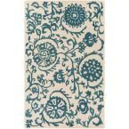 Rhodes Maggie Teal (Blue) 8 ft. x 10 ft. Indoor Area Rug