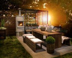 Outdoor Rooms, Outdoor Gardens, Outdoor Furniture Sets, Outdoor Decor, Balcony Garden, Rustic Farmhouse, Rustic Decor, Diy And Crafts, Pergola