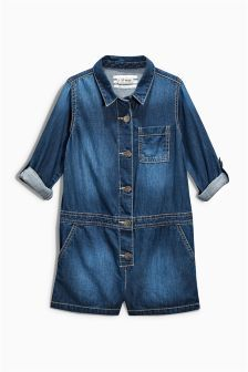 Next Dark Wash Denim Playsuit (3-16yrs) £17.50