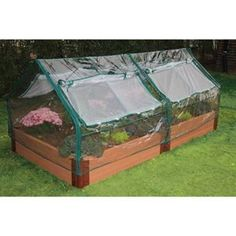 Scenery Solutions 'Frame it All' 4' x 8' x 12 Raised Garden Bed w/ PVC Soft Side Greenhouse . $448.00