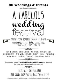 Our next wedding fair! Festival style