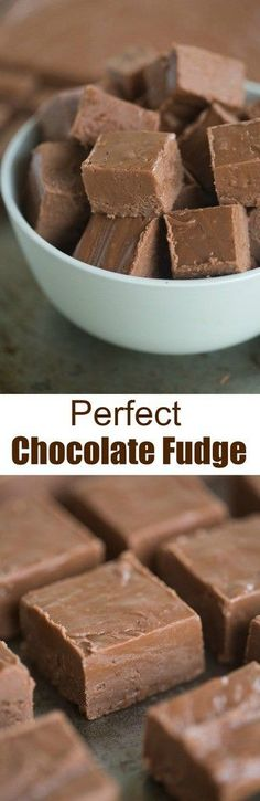 Thick and creamy, perfect chocolate fudge is one of my favorite easy holiday treats! Makes a great homemade holiday gift as well! | tastesbetterfromscratch.com via @betrfromscratch