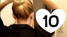 10 Easy, Quick Everyday Hairstyles for long hair & hairstyles for medium hair, via YouTube.