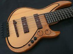Leduc U Bass fretted 6 string bass guitar