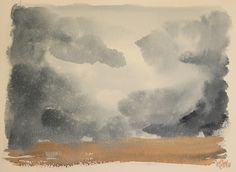 Escenas en acuarela - Nubes y tierra. Watercolor scenes - Clouds and land. HMZEN'16