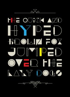 HYPED Free Font by med ness, via Behance