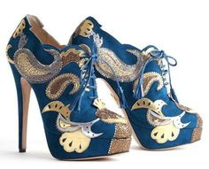 Fancy Baroque Platforms - Nicholas Kirkwood for Rodarte Shoes Mix Old & New (GALLERY)
