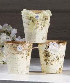 Another great find on #zulily! Vintage-Inspired Peat Pots - Set of Three #zulilyfinds