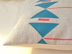 Geometric Linen Pillow Covers by Paleolochic