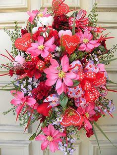 Basket Valentines Door Arrnagement