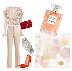 """sweet"" by maria-clara-ribeiro-1 on Polyvore featuring Chloé, Christian Louboutin, Gucci and Michele"
