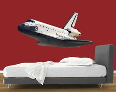 Space Shuttle In Flight Peel And Stick Mural   Wall Sticker, Mural, U0026 Decal  Designs At Wall Sticker Outlet Photo