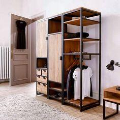 30 отметок «Нравится», 1 комментариев — Metal & Wood Furniture (@metal_wood_furniture) в Instagram: «Изготовление гардеробных из металла и дерева по Вашим замерам. Handmade  Отправляйте запросы в…»
