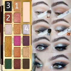 Eyeshadow Basics To Make Your Eyes Stand Out – Eye Makeup Look Day Eye Makeup, Makeup Eye Looks, Natural Eye Makeup, Eye Makeup Tips, Makeup Dupes, Makeup Cosmetics, Beauty Dupes, Elf Makeup, Makeup Tricks
