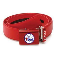 Philadelphia 76ers Zephyr Leather Mission Belt - Red - $41.99