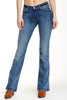 7 For All Mankind Slim Trouser Flare Jean