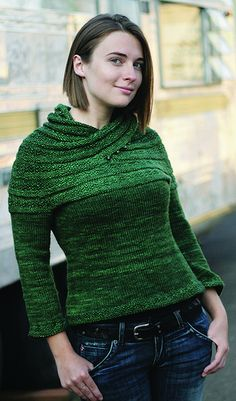 Ravelry: Harmonia's Rings Sweater pattern by Sivia Harding. $ Don't know if I would ever wear it, but it certainly would be fun to make.