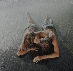 love in the rain..