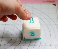 How to make baby block cake toppers, or maybe a mini cake