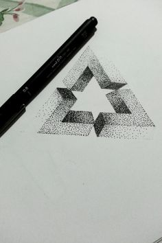 Penrose dotwork triangle.