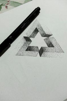 Penrose dotwork triangle.