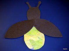 F for fireflies Tippytoe Crafts: Fireflies Insect Crafts, Bug Crafts, Daycare Crafts, Camping Crafts, Toddler Crafts, Daycare Ideas, Classroom Crafts, Classroom Ideas, Fireflies Craft