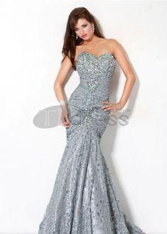 Strapless sweetheart sequin dress