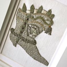 Embroidery Victorian Boot Home Decor Free Hand Embroidery Art
